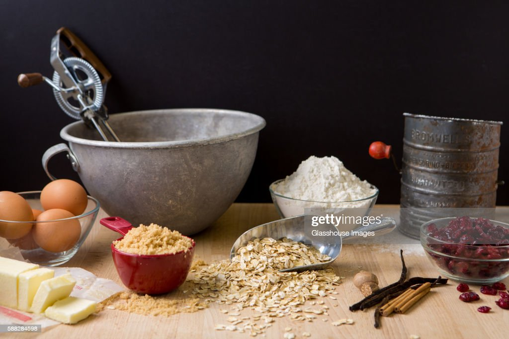 Baking Ingredients for Cookie Recipe : Stock Photo