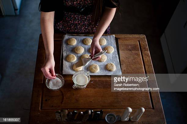 baking - basting brush stock photos and pictures