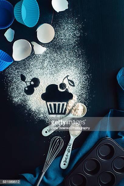 Baking recipe: cherry muffin
