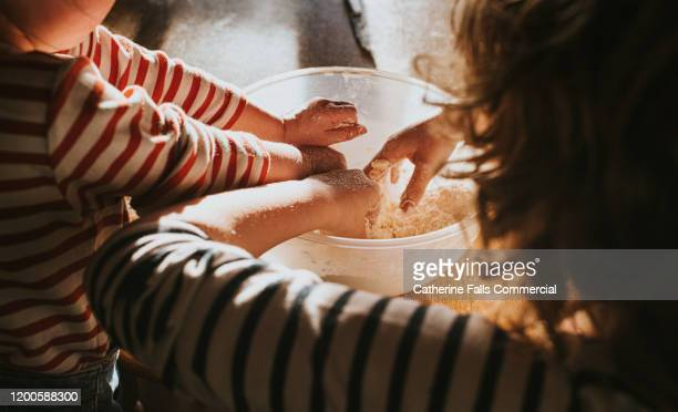 baking scones - baking stock pictures, royalty-free photos & images