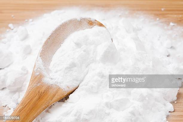 Baking Soda with Wooden Spoon
