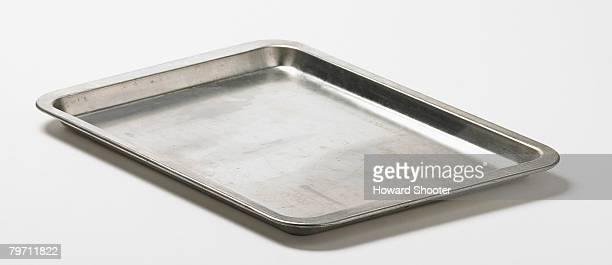 baking tray, studio shot - baking sheet stock pictures, royalty-free photos & images