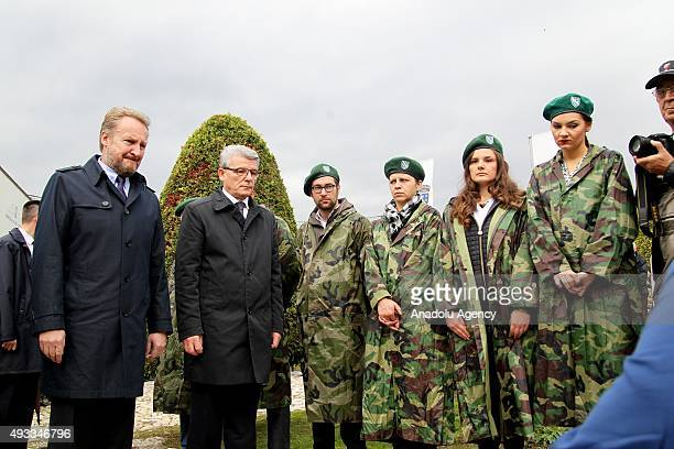 Bakir Izetbegovic Chairman of the Presidency of Bosnia and Herzegovina and son of the Bosnia and Herzegovina's first President Alija Izetbegovic pray...