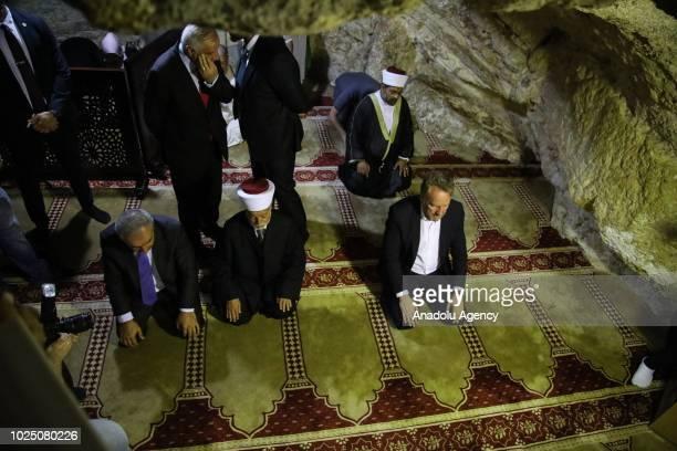 Bakir Izetbegovic , chairman of the Presidency of Bosnia and Herzegovina accompanied by Palestinian Mufti of Jerusalem, Sheikh Mohammed Hussein , a...