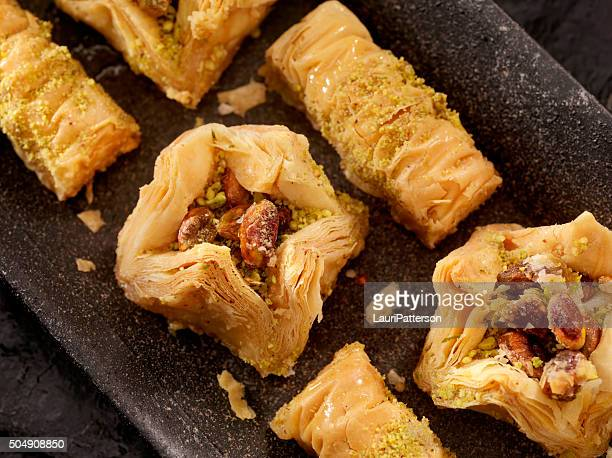 baklava - iranian culture stock photos and pictures