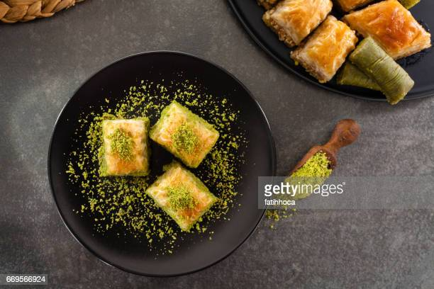 baklava - east stock pictures, royalty-free photos & images