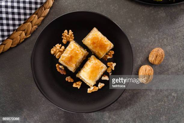 baklava - arabesque stock pictures, royalty-free photos & images