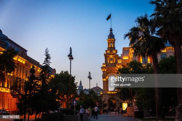 baku at night, azerbaijan - azerbaijan stock pictures, royalty-free photos & images
