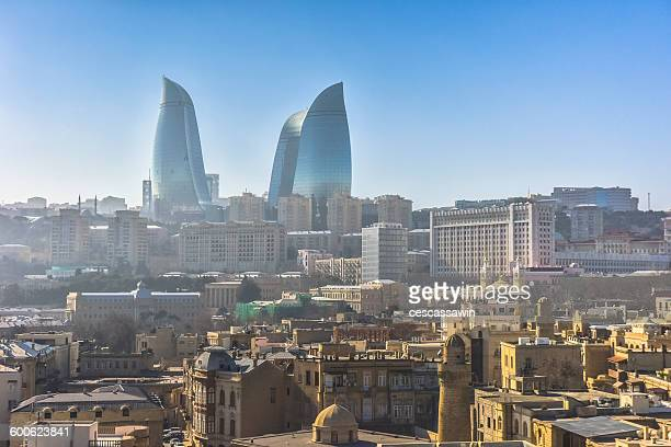 Baku Cityscape with Flame Towers