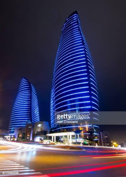 Baku Flame Towers by Night