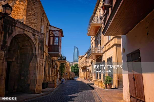 baku old town, baku, azerbaijan - アゼルバイジャン ストックフォトと画像