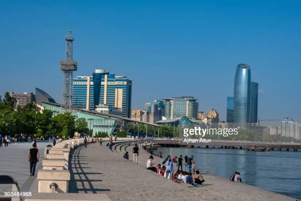 baku promenade, azerbaijan - baku stock pictures, royalty-free photos & images