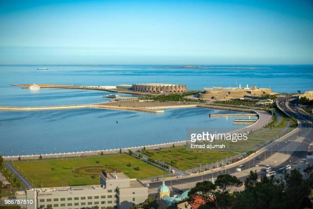 baku promenade, baku, azerbaijan - baku stock pictures, royalty-free photos & images
