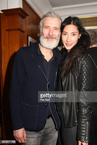 Bal des Princesses organizer Dan Marie Rouyer and Alexandra Lebrand attend the the Nicolas Mereau Birthday Party At Club 13 on April 6 2018 in Paris...
