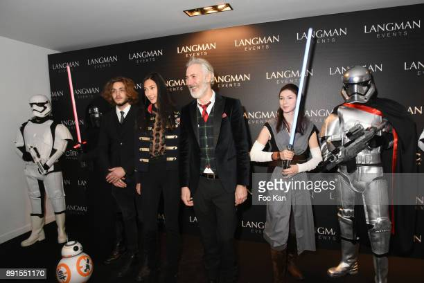 Bal des Princesses organizer Dan Marie Rouyer and his wife Alexandra Lebrand attend the Star Wars Party at Le Saint Fiacre on December 12 2017 in...