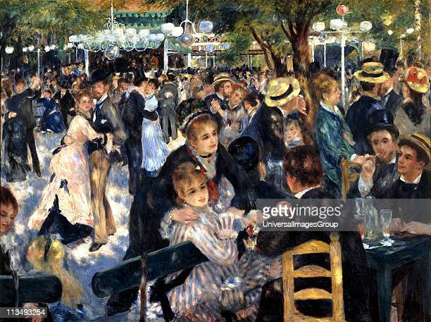 Bal du moulin de la Galette' 1876 Oil on canvas PierreAuguste Renoir French painter Crowded scene at the openair dance garden Butte Montmartre Paris...