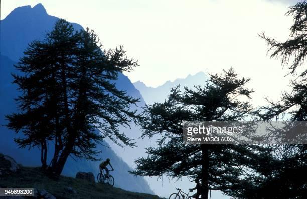 Balade en VTT, aux T?tes 2044 m en dessus du col de la Pousterle, depuis la station de ski de Puy Saint Vincent.