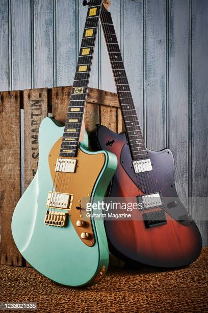 Balaguer Standard Series Espada electric guitar with a Gloss Vintageburst finish and a Balaguer Standard Series Espada T-Bar electric guitar with a...
