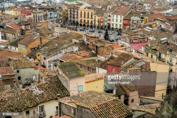 balaguer's city centre - old town stock pictures, royalty-free photos & images