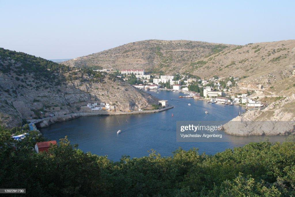 Balaklava Bay in Crimea : Stock Photo
