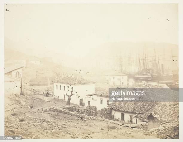 Balaklava, looking Seawards, 1855. A work made of salted paper print, from the album 'photographic pictures of the seat of war in the crimea' ....