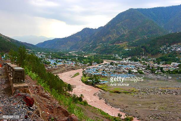 Balakot City And River Kunhar After Earthquake