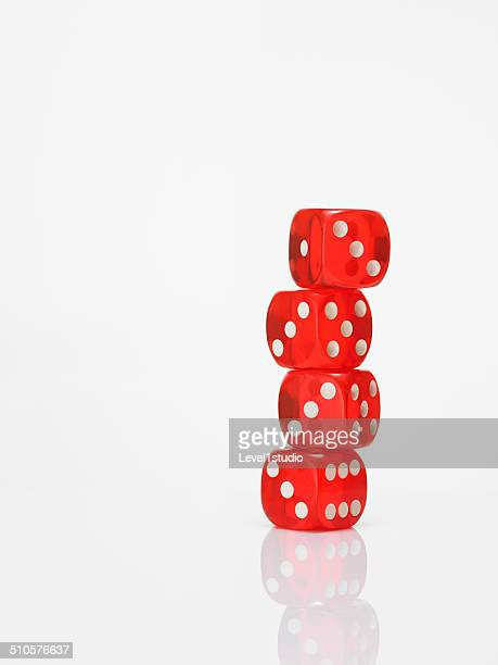 Balance dices on white background