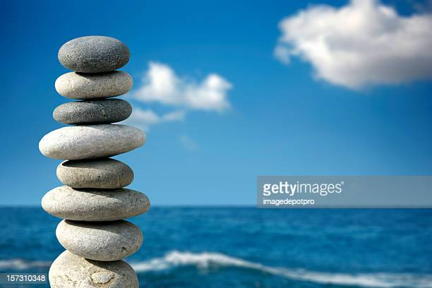 Gleichgewicht in Blau