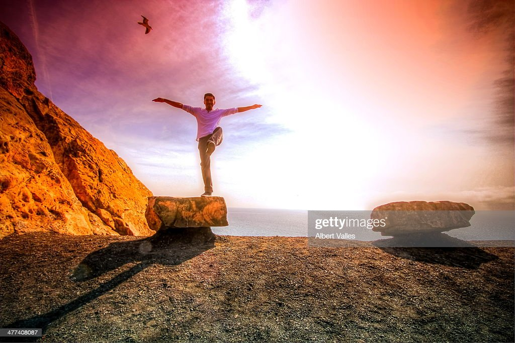 Balance in the light : Stock Photo