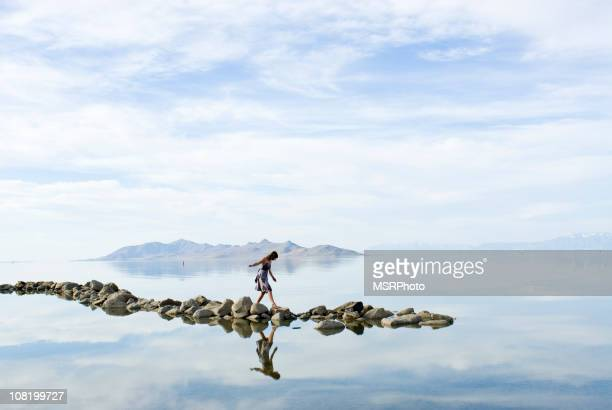 balance - great salt lake stock pictures, royalty-free photos & images