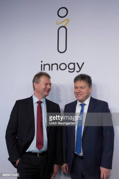 Balance Press Conference of Innogy SE Uwe Tigges CEO of Innogy SE and board member Dr Hans Buenting during the press conference