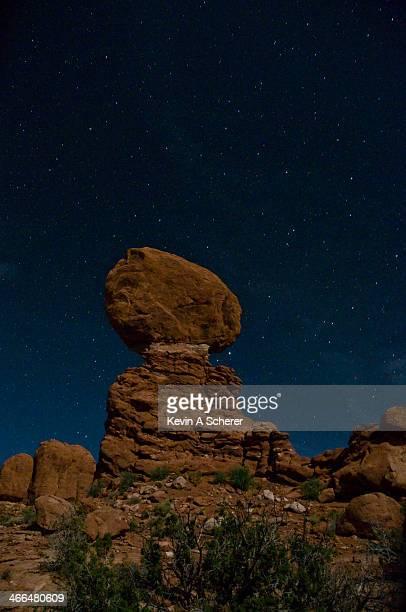 Balanced Rock at Night