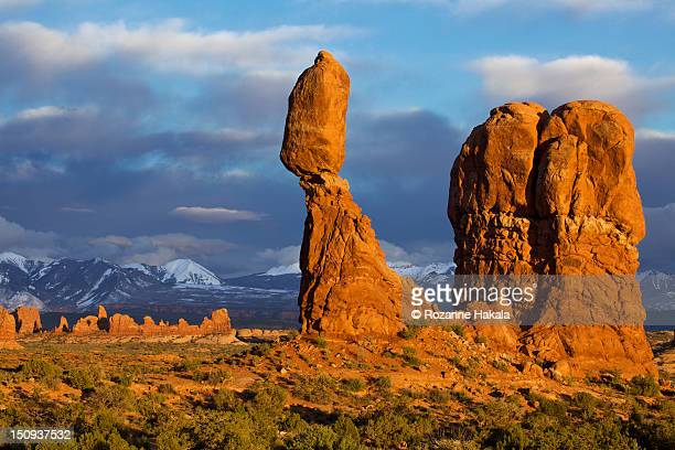 Balanced Rock at sunset, Arches NP