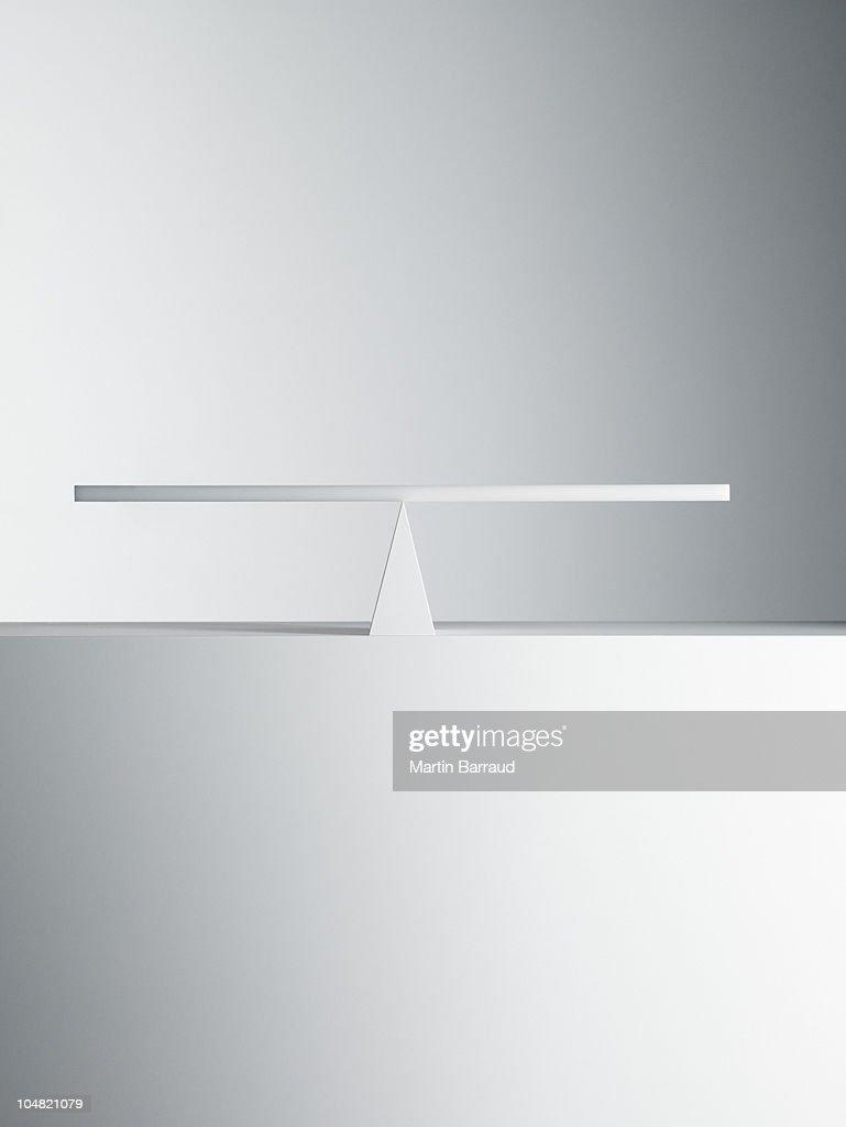 Balanced seesaw : Stock Photo