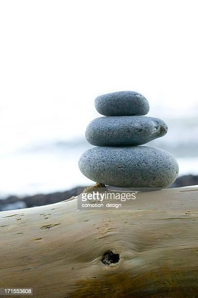 Ausgewogenen Steine