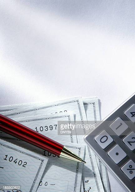 balancing checkbook - paid stock pictures, royalty-free photos & images