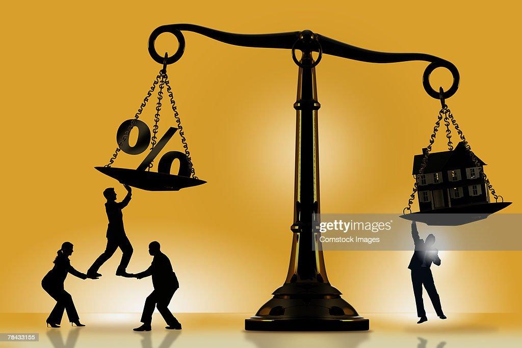 Balancing mortgage rate : Stockfoto