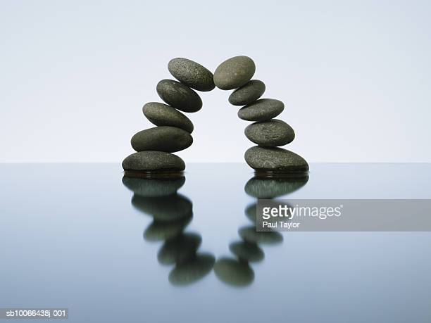 balancing rocks in water, studio shot - prop stock pictures, royalty-free photos & images
