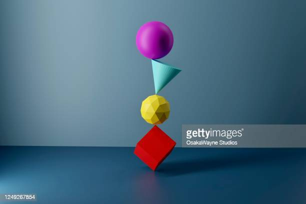 balancing shapes - man made object stock pictures, royalty-free photos & images