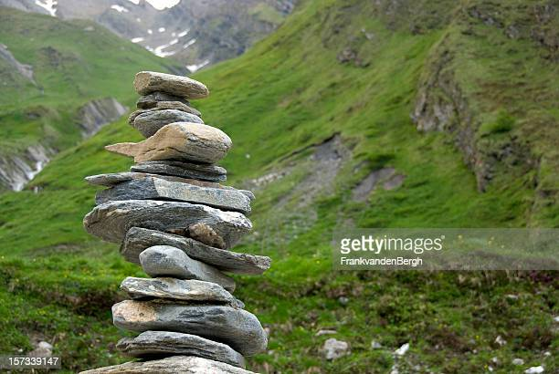 Balancing Stapel rocks