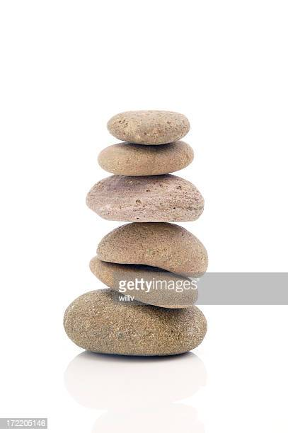 balancing stones - rock object stock pictures, royalty-free photos & images