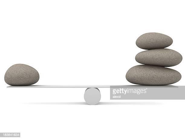 石のバランスを整えます。