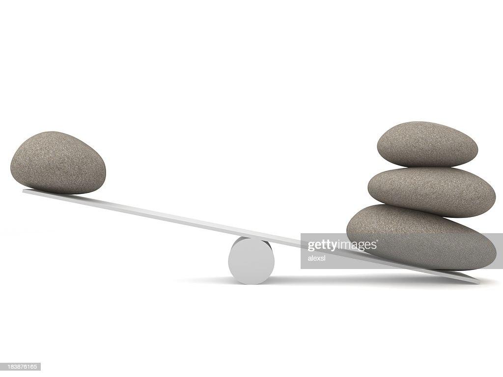 石のバランスを整えます。 : ストックフォト