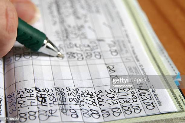 balancing a check book stock photos and pictures getty images