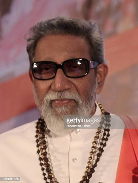 Balasaheb Thackeray attends the book launch of Balaji Tambe's 'Ayurvedic Garbha Sanskar' at Novotel Juhu on July 23 2011 in Mumbai India