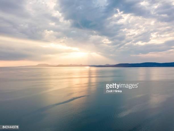 Balaton lake and the sunset