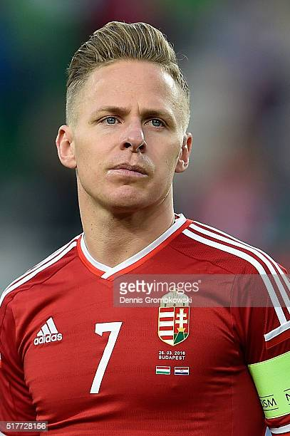 Balazs Dzsudzsak of Hungary in action during the International Friendly match between Hungary and Croatia at Groupama Arena on March 26 2016 in...