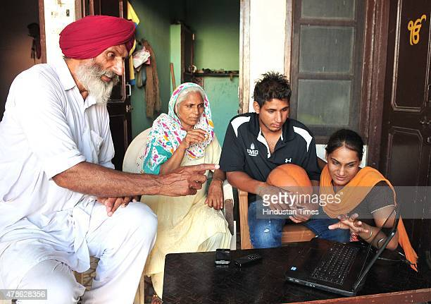 Balbir Singh Bhamara father of basketball player Satnam Singh Bhamara 7'2' tall and weighs 290 pounds the first Indianborn player to be drafted in...