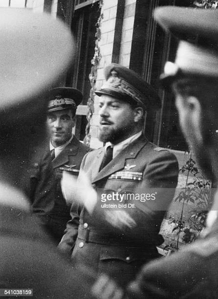 Balbo Italo *05061896Officer Politician Italy Airforce minister Governorgeneral of ItalianLibya 19341940 half length portrait as airforce minister...