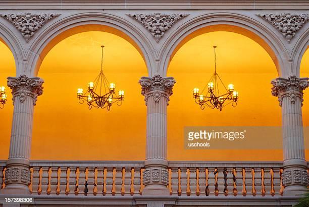 Balboa Park at Dusk: Spanish Arches on Balcony